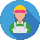 accountant, assistant, cashier, female, helper icon