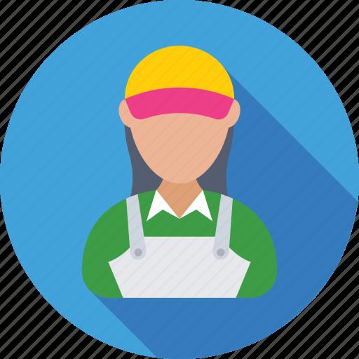 accountant, assistant, cashier, female, helper icon