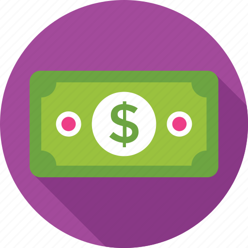 banknote, currency, dollar, money, paper money icon