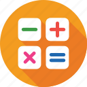 calculation, calculator keys, digital calculator, math symbols, maths icon
