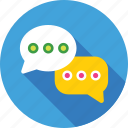 chat balloon, chat bubbles, comments, conversation, talk icon