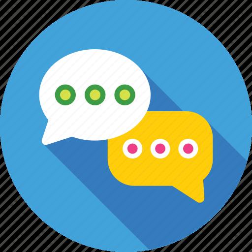 chat balloon, chat bubbles, comments, conversation, talk icon