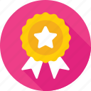 award, medal, prize, ribbon, ribbon badge icon