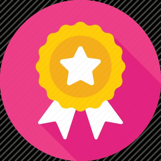 award, medal, prize, ribbon, ribbon badge icon