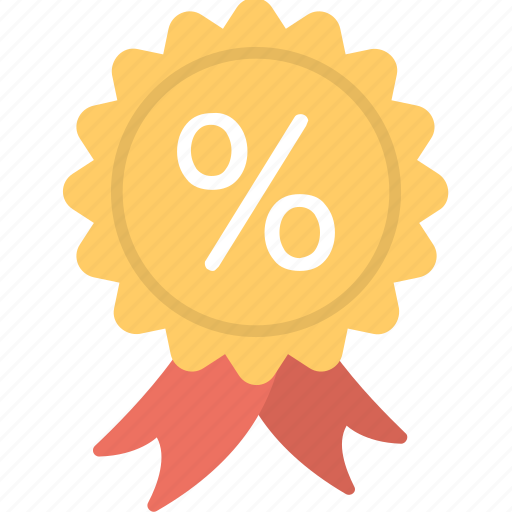 Certified quality, guarantee sign, percentage sign, quality sign, ribbon badge icon - Download on Iconfinder