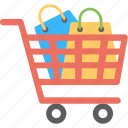 shopping stock, trolley bags, order status, buying, shopping cart with items