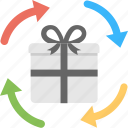 corporate gifts, gift delivery, gift distribution, gifts delivery process, online gift delivery icon