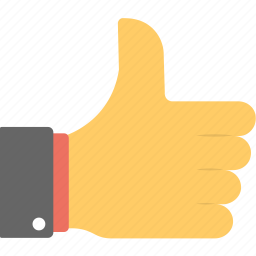 approved, feedback sign, hand gesture, like, thumbs up icon