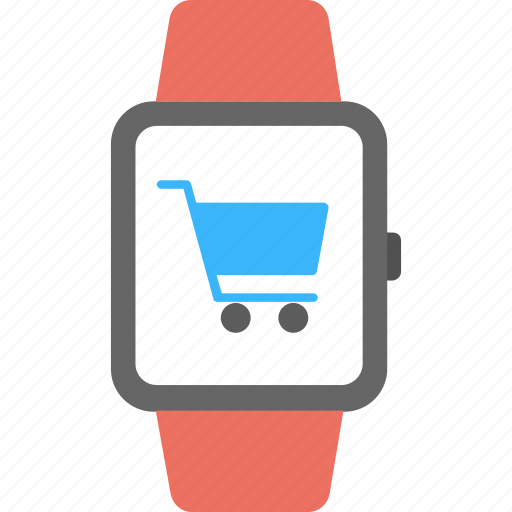 smartwatch app, smartwatch app store, smartwatch commerce app, smartwatch shopping app, wearable technology shop icon