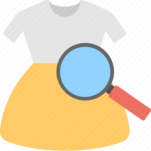 dress with magnifier, e-commerce plugins, find the product, product filter and search, product search icon
