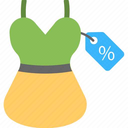 clothe price tag, dress price label, dress price tag, price tag for woman dress, sale offer icon