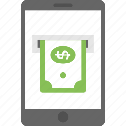 m-commerce, mobile banking, mobile payment, online banking, online payment icon