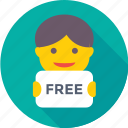 e commerce, free, free offer, offer, shopping icon