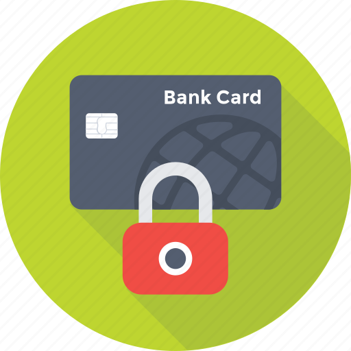credit card, lock card, protection, safety, security icon