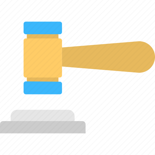auction, court, gavel, law, order icon