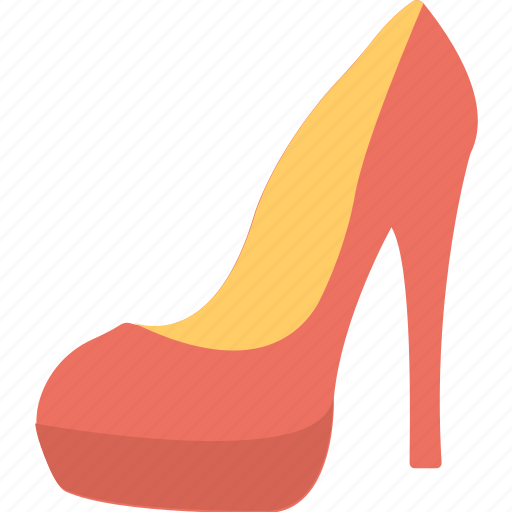 high heels shoes, pump shoes, red pump shoe, red pumps, women shoes icon
