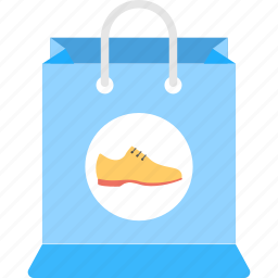 male shoe and shopping bag, shoe paper carrier bag, shoe store bag, shoes shop, shopping bag with shoe sign icon