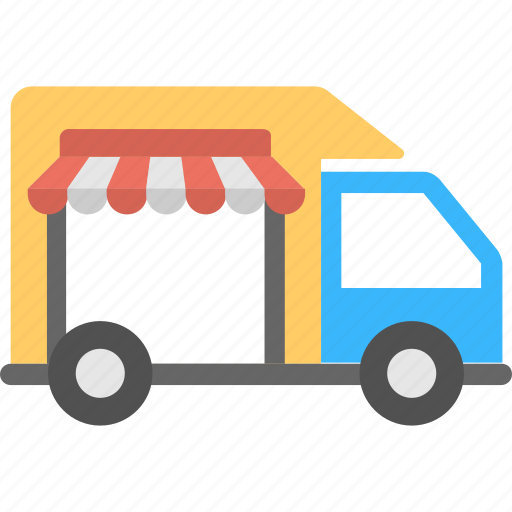 commercial vehicle, delivery service, delivery van, store delivery van, van sales icon