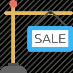 sale advertisement, sale info, sale point, sale sign, sale signpost icon