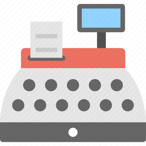 cash machine, cash register, cash till, checkout, pos icon