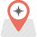 cardinal directions pin, destination, map locator, gps location, compass pin