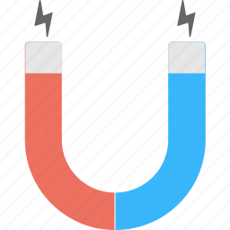 attraction, horseshoe magnet, magnet, magnetic, u-shaped magnet icon