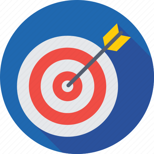 aim, dartboard, goal, objective, target icon