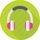 customer service, earphones, gadget, headphone, music icon