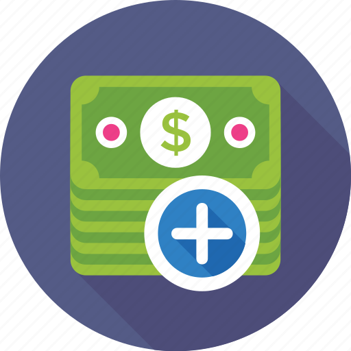 banknotes, currency, dollar, money, paper money icon