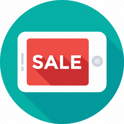 ecommerce, mobile, offer, sale, shopping icon