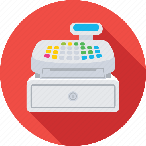 cash register, cash till, point of sale, pos, till supplier icon