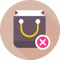bag, ecommerce, online shopping, remove from bag, shopping icon