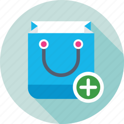 add, add to bag, product, shopping bag, store icon