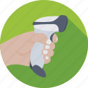 barcode reader, barcode scanner, retail, scanner, shopping icon