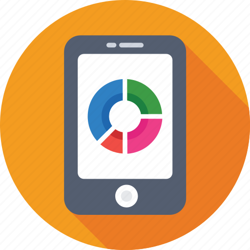 Analytics, infographic, mobile, mobile graph, online graph icon - Download on Iconfinder
