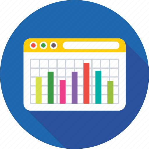 analytics, bar chart, infographics, online graph, web analytics icon