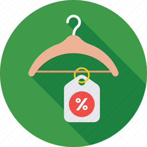 clothing, discount, hanger, promotional, shopping icon