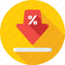 arrow, discount arrow, download, offer, percentage icon
