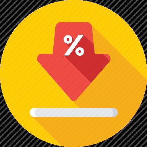 arrow, discount arrow, download, offer, percentage icon