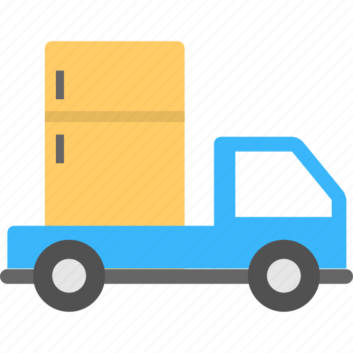 fridge delivery, fridge moving, refrigerator delivery, refrigerator moving service, transport a fridge icon