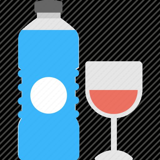 beverage, drinks, liquer, water bottle, wineglass icon