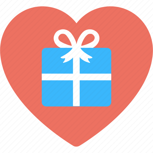 gift box, gift for lover, gift love, gift with heart, valentine day gift icon