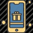 gift, mobile, phone, smartphone