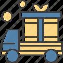 gift, present, transport, van