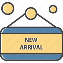 arrival, label, new, price, tag