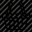basket, commerce, empty, shopping, shopping basket icon