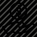 commerce, dollar, hand, money, price, shopping icon