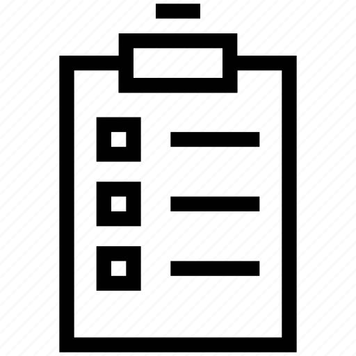 clipboard, clipper, document, file, notepad, paper, writing board icon