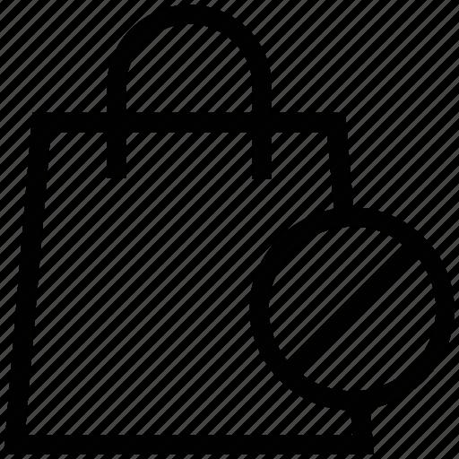 e commerce, no shopping, online shopping, prohibit, shopping bag icon
