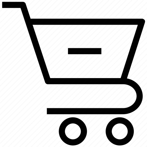 less, minus from cart, online shopping, shopping cart, subtract icon